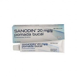 Sanodin 20mg/g pomada bucal